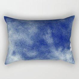 Indigo Brush Strokes Rectangular Pillow