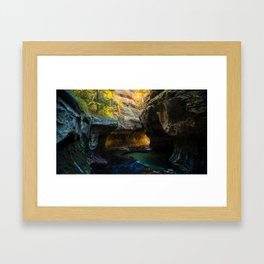 The Subway - Canyon - Zion National Park, UT. Framed Art Print