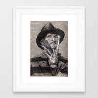 freddy krueger Framed Art Prints featuring freddy krueger by calibos