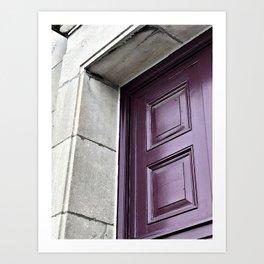 A Simple Purple Door Art Print