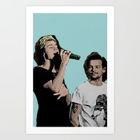 larry stylinson Art Prints featuring Pop Art Larry Stylinson  by JodiYoung