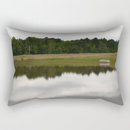 Country Day at the Pond Rectangular Pillow