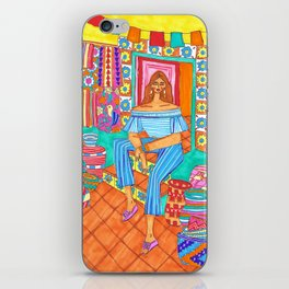 Summer market iPhone Skin