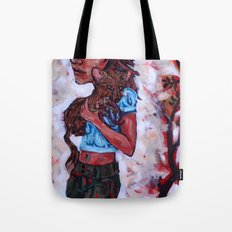 Fiona and the Ferret Fox Tote Bag