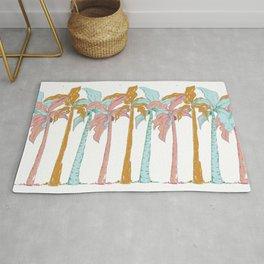 Pastel Palm Trees Rug