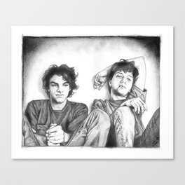 Gene & Dean Ween Graphite Drawing Canvas Print