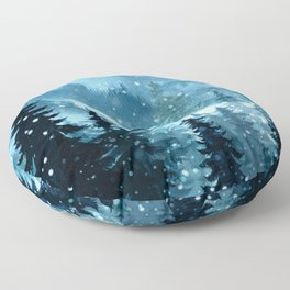 Winter Night Floor Pillow