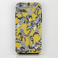 woodland fox party ochre yellow Tough Case iPhone 6s