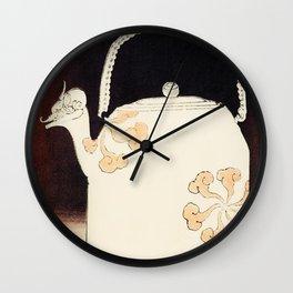 Watanabe Seitei - Teapot - Japanese traditional pattern design Wall Clock