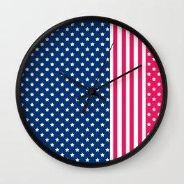 Abstract Patriotic pattern . Wall Clock