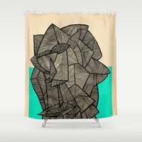 disco Shower Curtains featuring - sleeping disco - by Magdalla Del Fresto