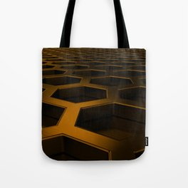 Brushed metal hexagon grille Tote Bag