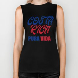 Pura Vida Costa Rica Gift Souvenir for Ticos, Ticas and Tourists on Vacation  Biker Tank