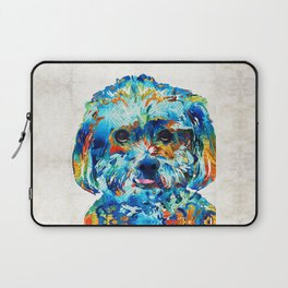 Colorful Dog Art - Lhasa Love - By Sharon Cummings Laptop Sleeve