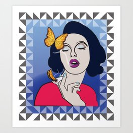 Fumée Papillon Art Print