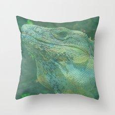 Wild Iguana Throw Pillow