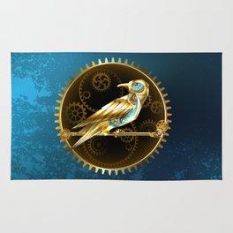 Mechanical Bird ( Steampunk ) Rug