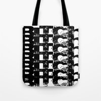 bitch Tote Bags featuring BITCH by Spotted Heart