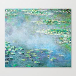 Monet Water Lilies / Nymphéas 1906 Canvas Print