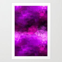 Geometric Purples Abstract Art Print