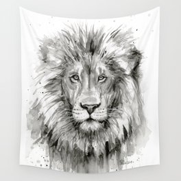 Lion Watercolor Animal Wall Tapestry