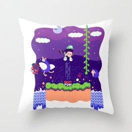Tiny Worlds - Super Mario Bros. 2: Luigi Throw Pillow