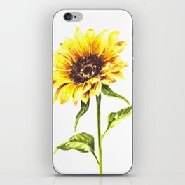Watercolor Sunflower iPhone Skin
