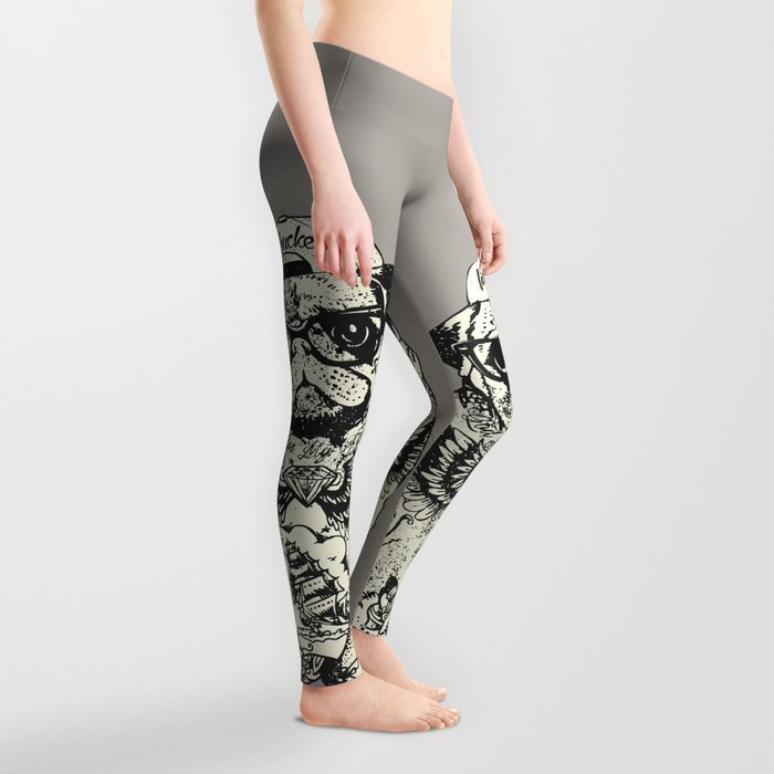 Pug Tattoo Leggings