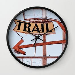 The Spanish Trail - Vintage Neon Sign Wall Clock