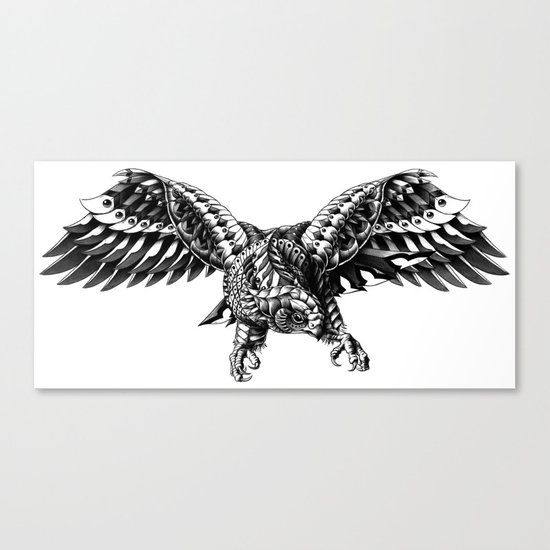 Ornate Falcon Canvas Print
