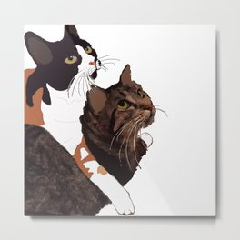 Two Cats Metal Print