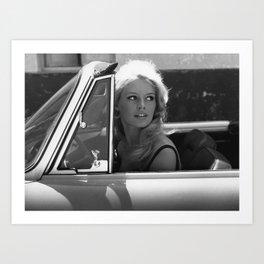 Brigitte Bardot in Barcelona black and white photography / photographs Art Print