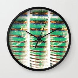 Ribbed.  Wall Clock