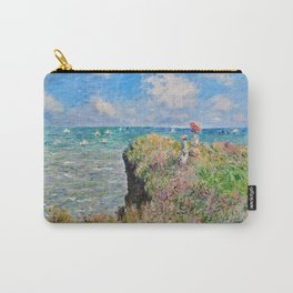 Claude Monet Cliff Walk At Pourville 1882 Carry-All Pouch