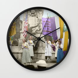 Lafayette, We Are Here! Suffragists protest across from the White House in 1918 Wall Clock