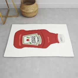 Single Ketchup Bottle Rug