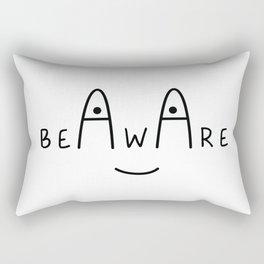Be Aware Rectangular Pillow