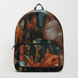 Hand in leaves Backpack