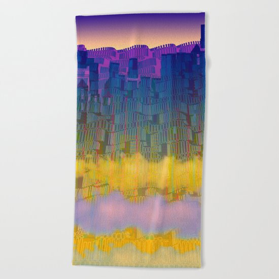 Urban 05-07-16 / WAVES of LIGHT Beach Towel