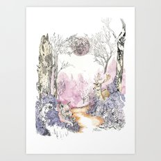 Woodland Magic Art Print