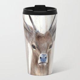 Deer in Winter Forest Travel Mug