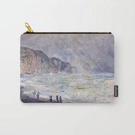 1897-Claude Monet-Heavy Sea at Pourville-73 x 101 Carry-All Pouch