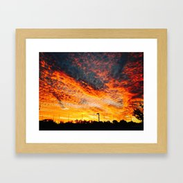 sunset from the other world Framed Art Print