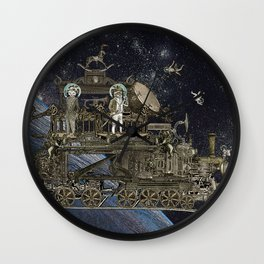 Oriental Steampunk Space Expess Wall Clock