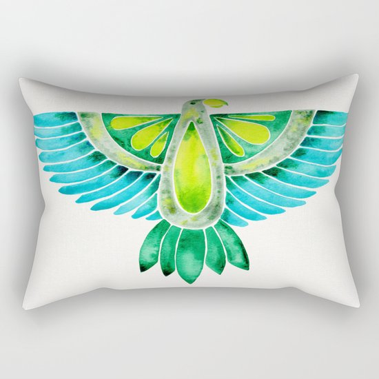 Parrot – Blue & Green Rectangular Pillow