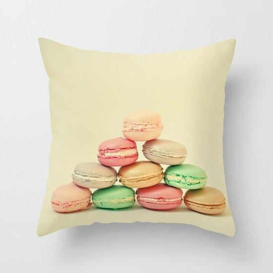 French Macarons Throw Pillow