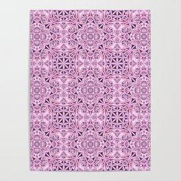 Pink kaleidoscope wallpaper Poster
