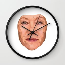 Shaping the Stars - Helen Mirren Wall Clock
