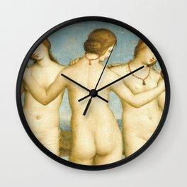 Three Graces (Raphael) Wall Clock
