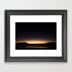Waves Goodnight Framed Art Print